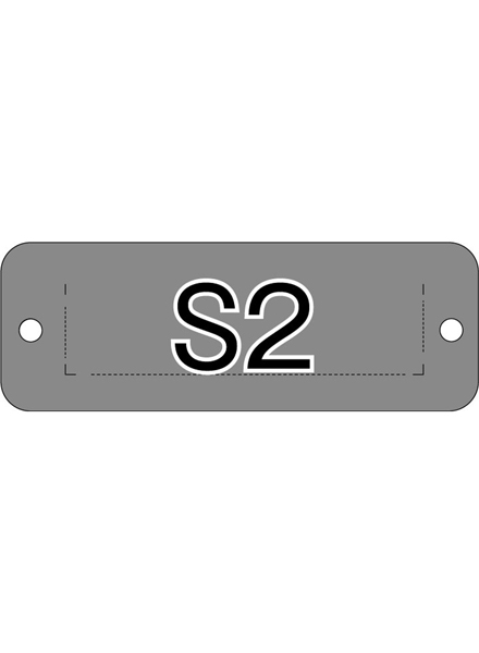ウォールポスターサインセパレートポケット ブラック S2