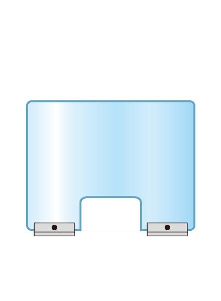 アクリルパーテーション窓付 APT-M500X600