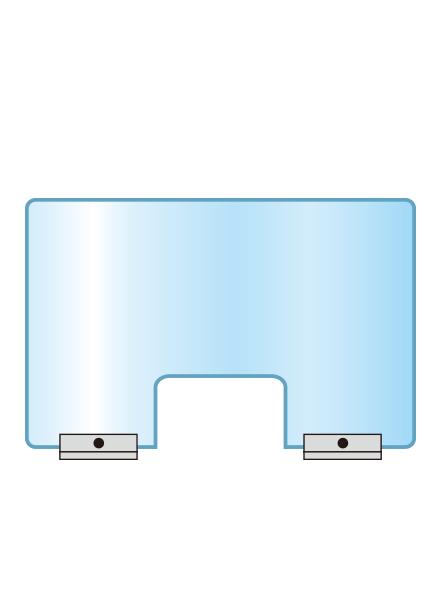 アクリルパーテーション窓付 APT-M600X900