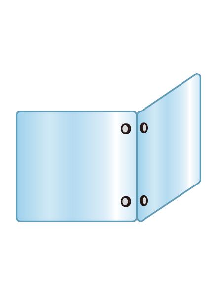 アクリルパーテーション 二面タイプ APT2F600X600X600