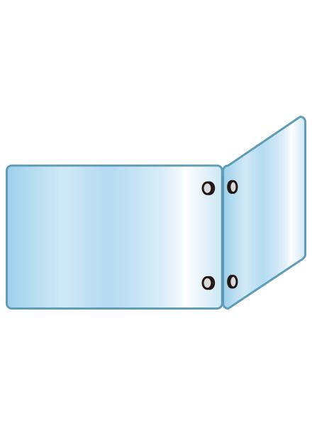 アクリルパーテーション 二面タイプ APT2F600X900X600