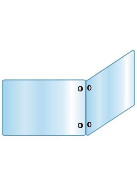 アクリルパーテーション 二面タイプ APT2F600X900X900