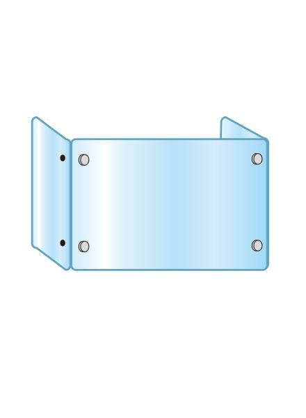 アクリルパーテーション 三面タイプ APT3F600X900X300