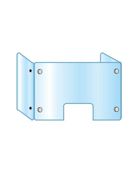 アクリルパーテーション 三面タイプ窓付 APT3F-M600X900X300