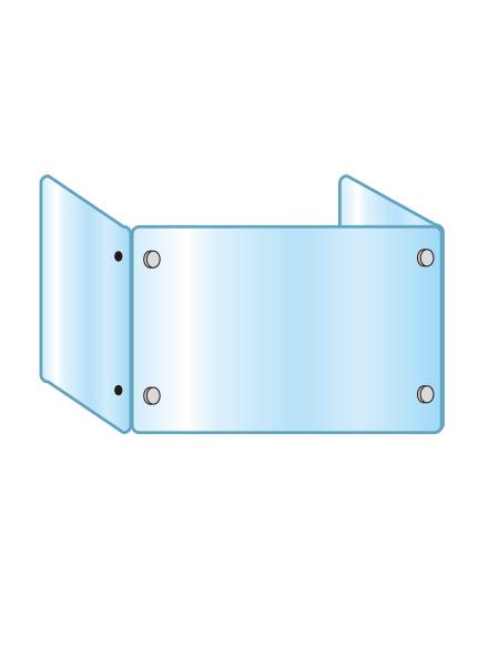 アクリルパーテーション 三面タイプ APT3F600X900X450