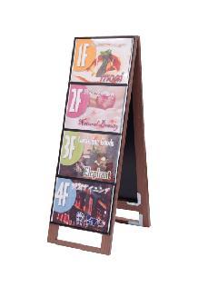 木製カードケーススタンド看板 A4横8両面