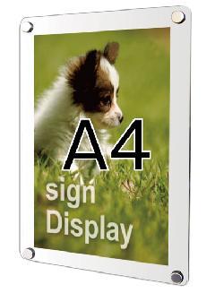 ウォールポスターサイン ホワイト A4