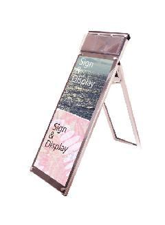 ポスター用スタンド看板パンフレットケース付 A3縦縦ロウ片面ブラック(屋内用)