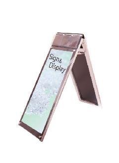 ポスター用スタンド看板パンフレットケース付 A3縦縦ロウ両面ブラック(屋内用)