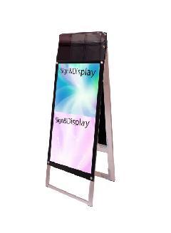 ポスター用スタンド看板パンフレットケース付 A3縦縦両面ブラック(屋外用)