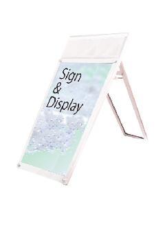 ポスター用スタンド看板パンフレットケース付 A1ロウ片面ホワイト(屋内用)