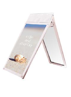 PSSKMNP-A1LRW ポスター用スタンド看板マグネジ パンフレットケース付 A1ロウ両面ホワイト(屋内用)