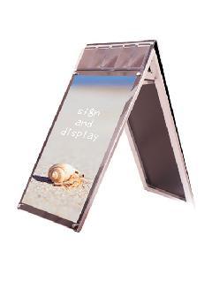 PSSKMNP-A1LRB ポスター用スタンド看板マグネジ パンフレットケース付 A1ロウ両面ブラック(屋内用)