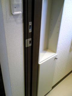 ドアの受け金具(調整ストライク)隙間埋め