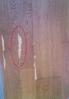 中古住宅 床の剥がれ補修