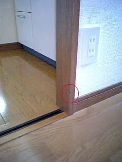 ドア枠のめくれ補修
