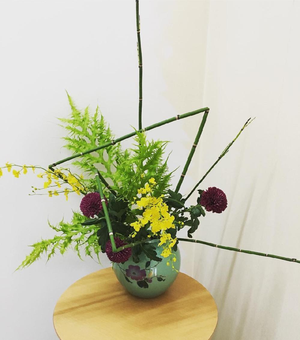 事務所のお花