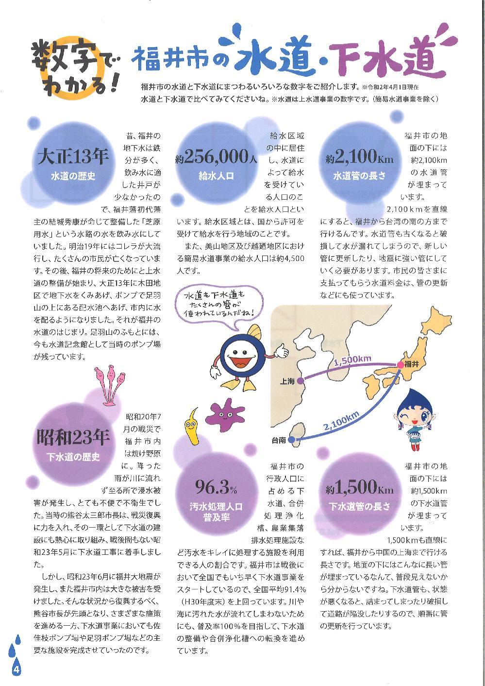 数字でわかる!福井市の水道・下水道p.01