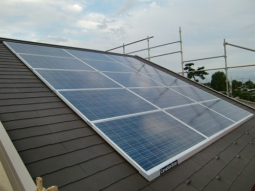 太陽光発電 設置後 一戸建て住宅