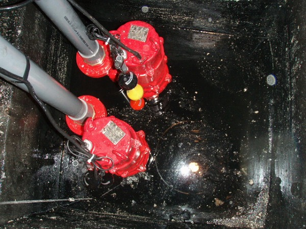汚水ポンプ交換工事 2 交換完了