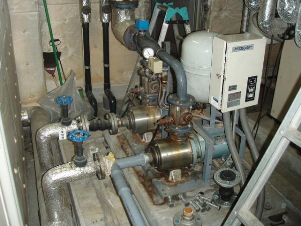 給水ポンプユニット 交換工事 1 工事前