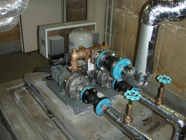 給水ポンプユニット 交換工事 1 工事完了 2