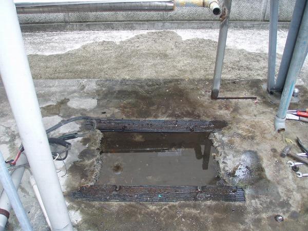 給水ポンプユニット 交換工事 2 既設品撤去