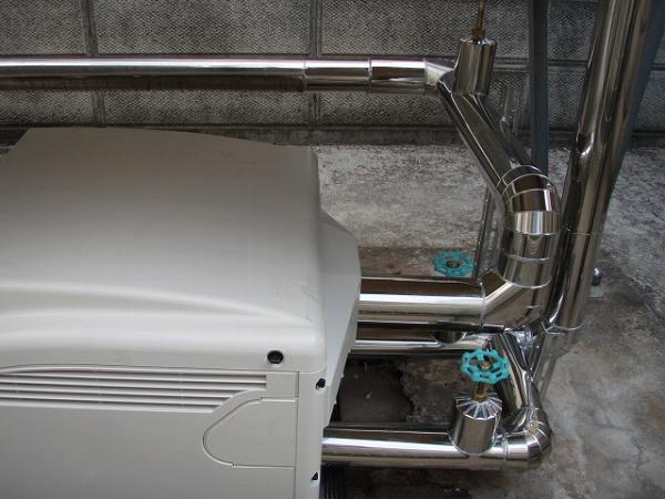 給水ポンプユニット 交換工事 2 配管工事 1