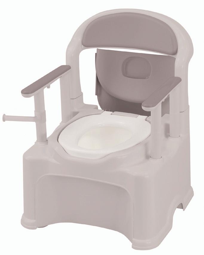 ポータブルトイレ きらくPY2型(やわらか便座)