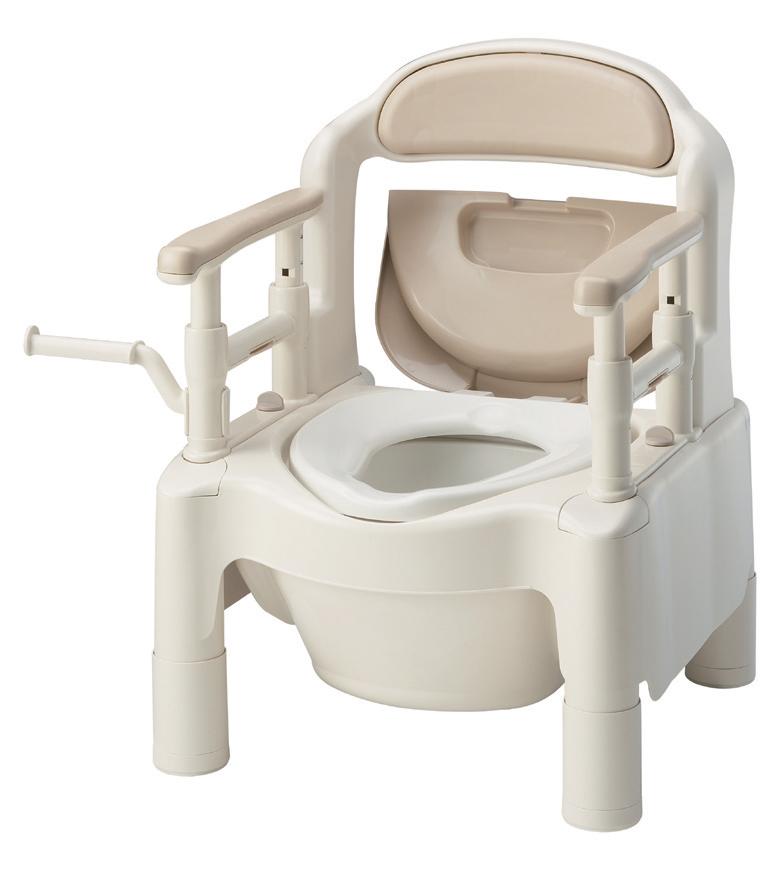 ポータブルトイレFX-CPH暖房便座 はねあげ (トランスファー・キャスター)
