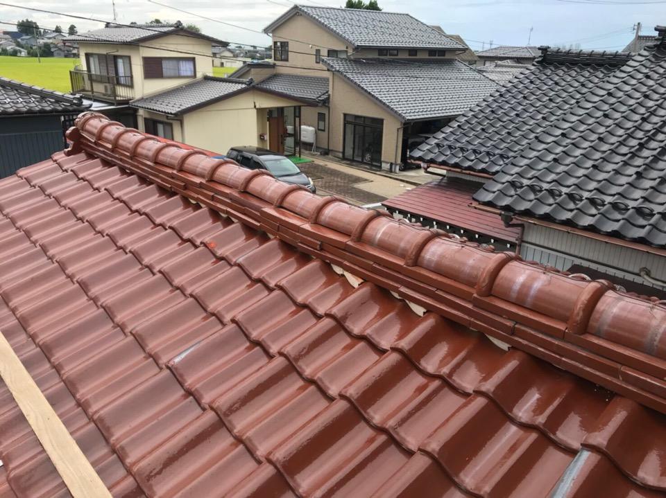 富山市J様邸 瓦,棟積み直し