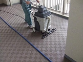 マンション共用部清掃作業