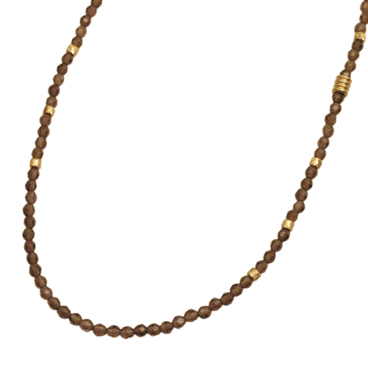EXTREME ENO-02 Smokeyquartz beads Necklace
