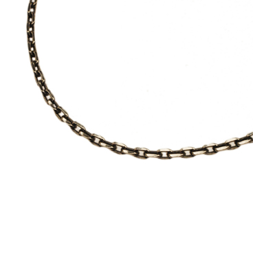 SILVER925 OX(燻し)CHAIN CL60/4C 60cm