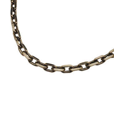 SILVER925 OX(燻し)CHAIN CL100/4C 45cm