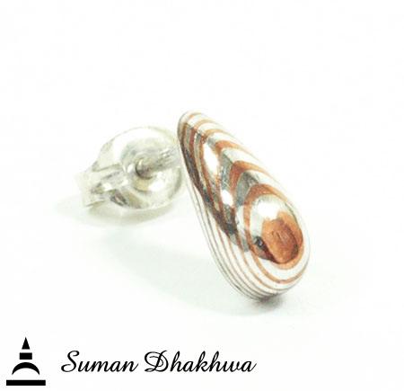 Suman Dhakhwa SD-E05S MOKUME Tears Stud