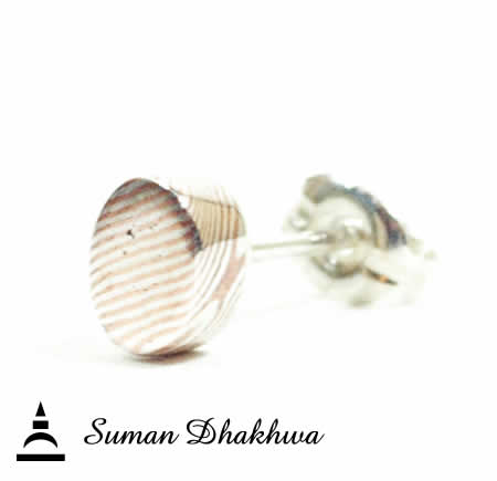 Suman Dhakhwa SD-E04SMOKUME Oval Stud