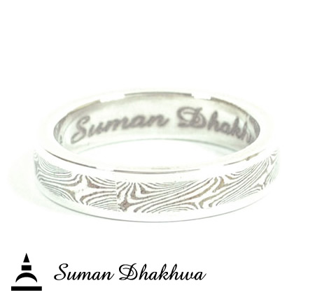 Suman Dhakhwa SD-R29 MOKUME & Silver Bottom Ring