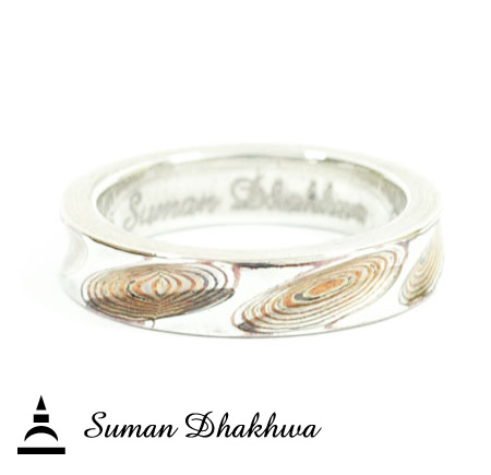 Suman Dhakhwa SD-R74 Narrow Spiral Ring