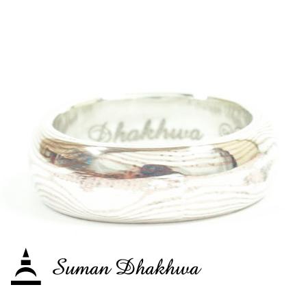 Suman Dhakhwa SD-R15 Line Wave MOKUME Ring