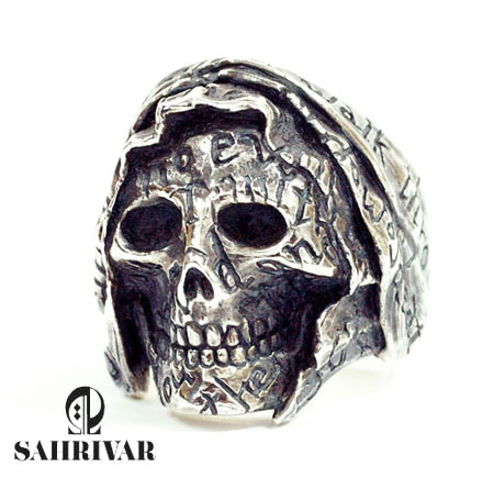 SAHRIVAR sr13s10a Holy Skull ring