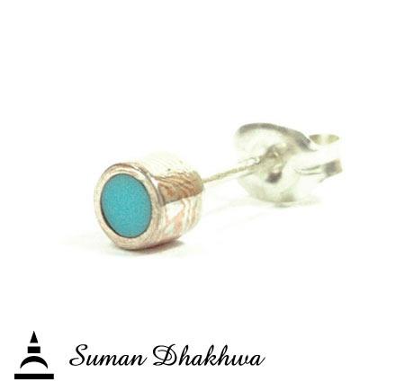 Suman Dhakhwa SD-E11S TRQ Circle Stud