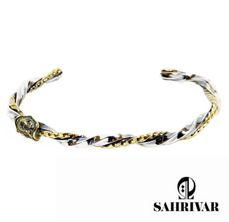 SAHRIVAR sb01s10s Twisted bangle