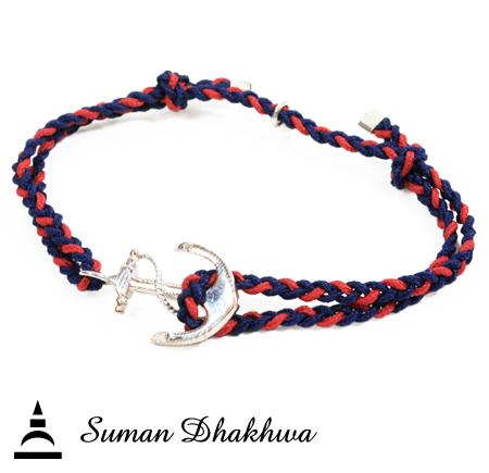 Suman Dhakhwa SD-B71NR Anchor Code Bracelet