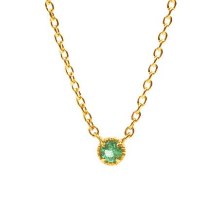 ENO-03/K18 Neckrace Emerald