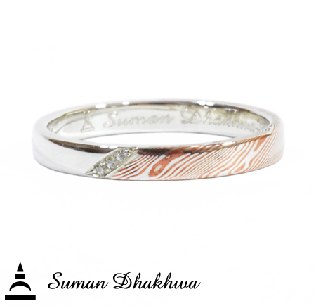 Suman Dhakhwa SD-R100 Narrow Promise Ring w/CZ