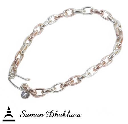 Suman Dhakhwa SD-C03 MOKUME Combination Bracelet Sm.