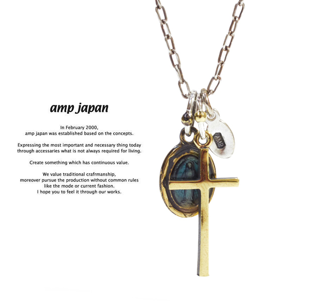 amp japan 13ad-286 maria cross Necklace