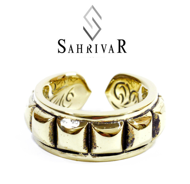 SAHRIVAR sr35b13a Love Kills Ring Brass