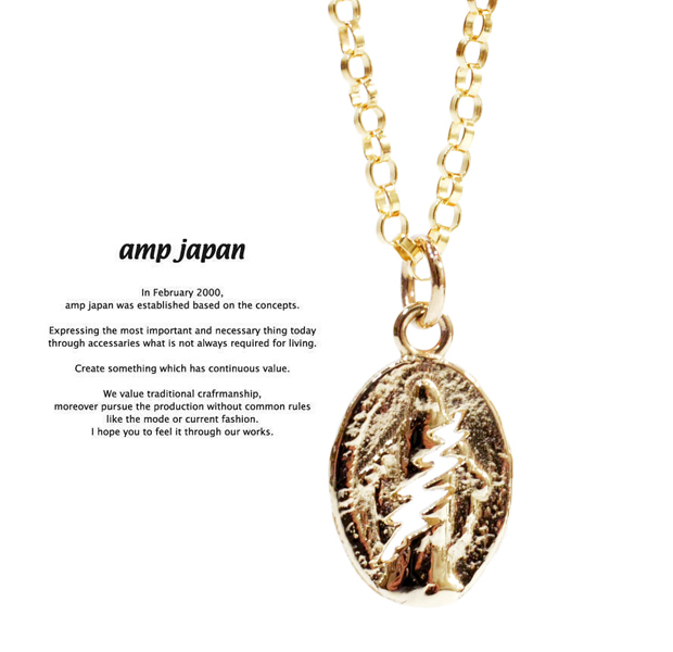 amp japan 13ah-291 greatful dead Gold Necklace